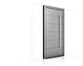 Porte d'entrée en bois aluminium HT 410 Internorm - Devis,Pose & Prix - Vaud et Genève