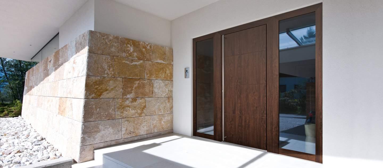 Porte d'entrée en bois aluminium Internorm - Devis,Pose & Prix - Vaud et Genève